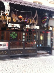 I apologise for the blurry photo, I may fallen into the Irish pub that lay directly across from this one.