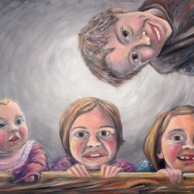 Portrait of Martin's Kids (Oil Painting)