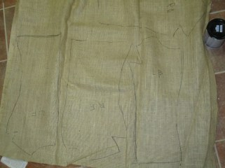 burlap with patterns