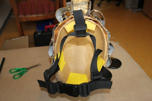 new helmet setup with straps and padding