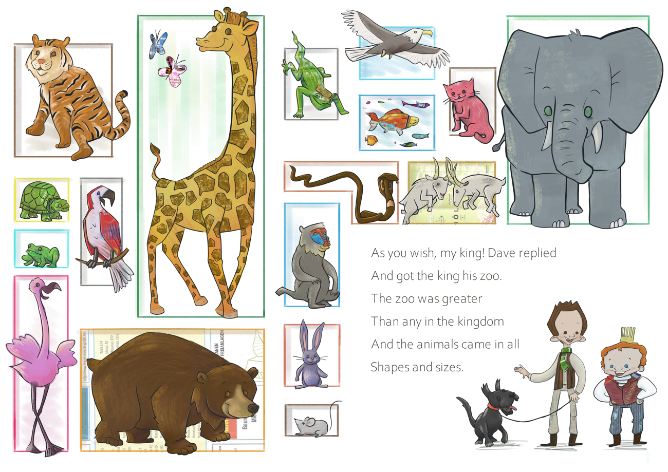 Illustrations: a Zoo and a Racecar!