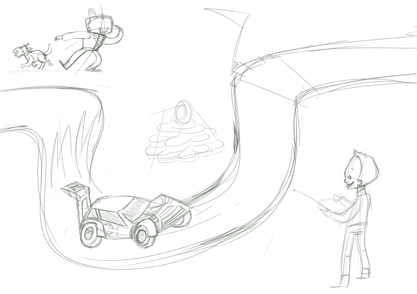 Illustration Progress: Racing!