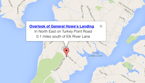 Overlook General Howe Landing Map