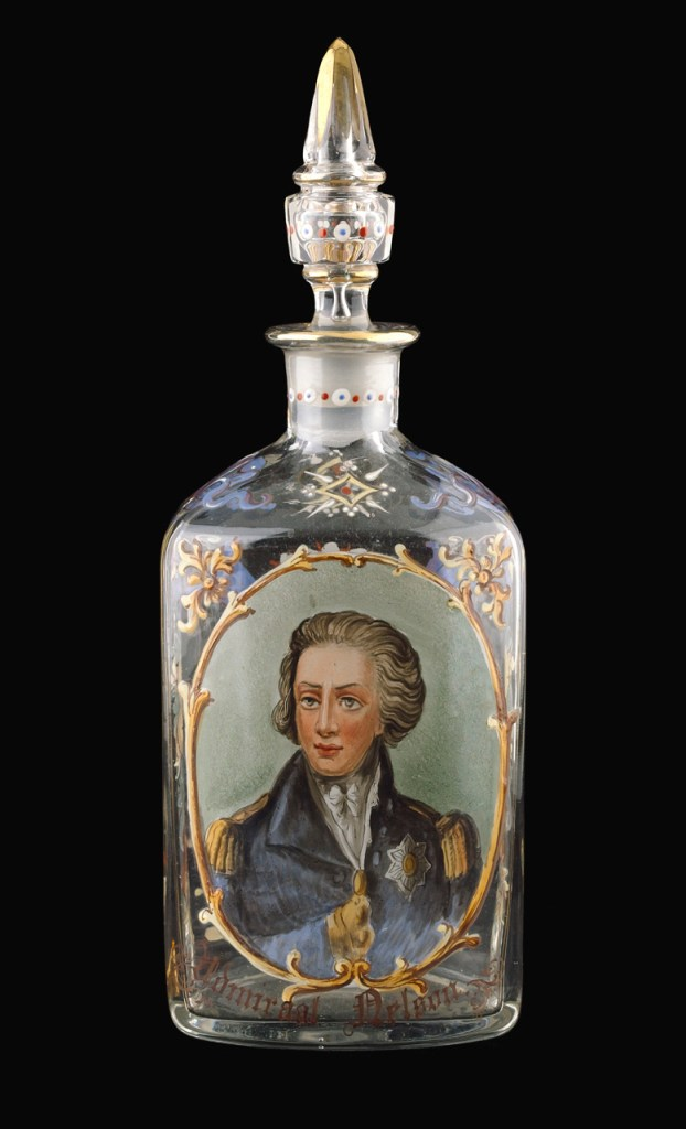 Decanter  Depicting Horatio Nelson,  Circa 1870, National Maritime Museum Collections