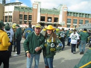 Kevin and I in 2012 in Green Bay