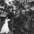 bride and groom walking ritz carlton laguna niguel