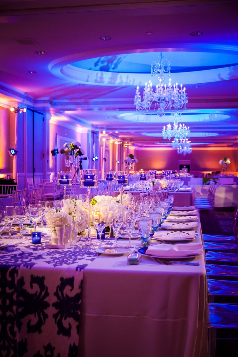 wedding reception room detail ritz carlton laguna niguel