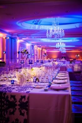 wedding reception room detail ritz carlton laguna niguel
