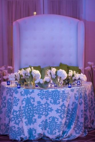 wedding head table ritz carlton laguna niguel