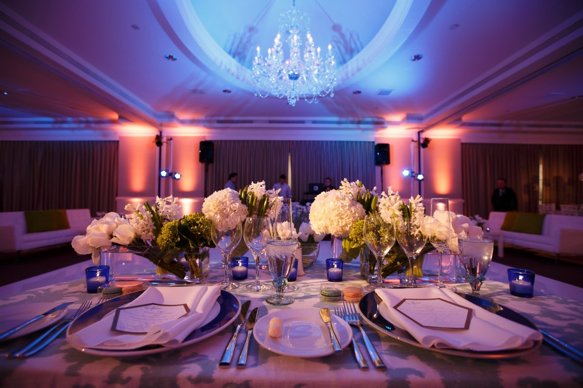 place setting hi end wedding ritz carlton laguna niguel