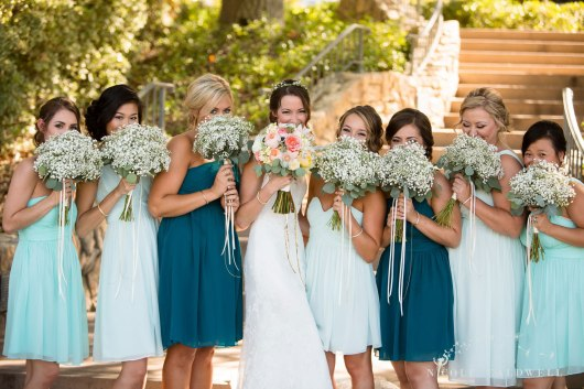 bridesmaids temecula creek inn wedding stone house bride