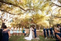 ceremony temecula creek inn wedding stone house bride