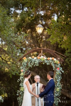 ceremony altar temecula creek inn wedding stone house bride