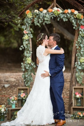 temecula wedding photographer ceremony kiss