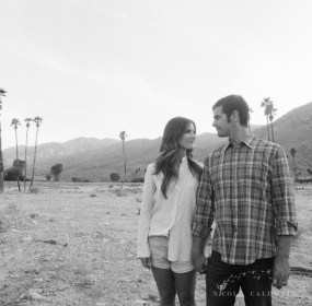 engagement session Korakia Pensione in Palm Springs by Nicole Caldwell film photographer film