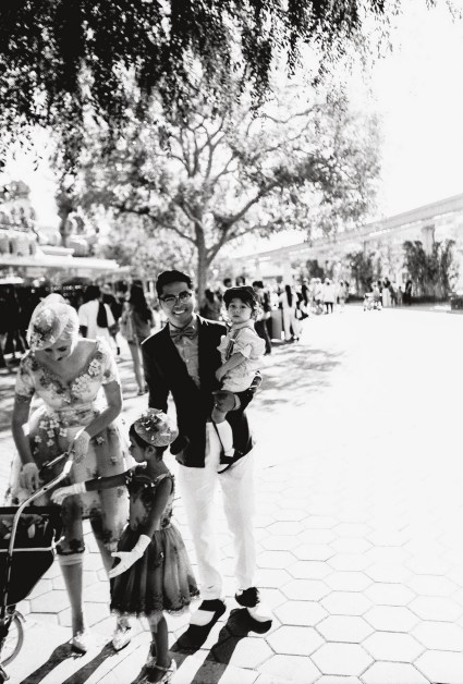 dapper day disneyland film photography black and white