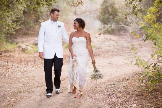 temecula creek inn weddings stonehouse ceremony brie and groom walking