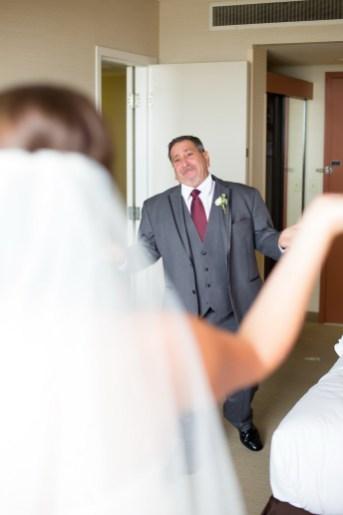 French Estate wedding photographer orange father of bride