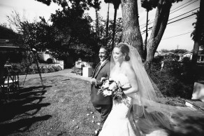 French Estate wedding photographer orange bride walking down aisle