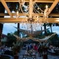 French estate wedding photographer orange reception dance floor