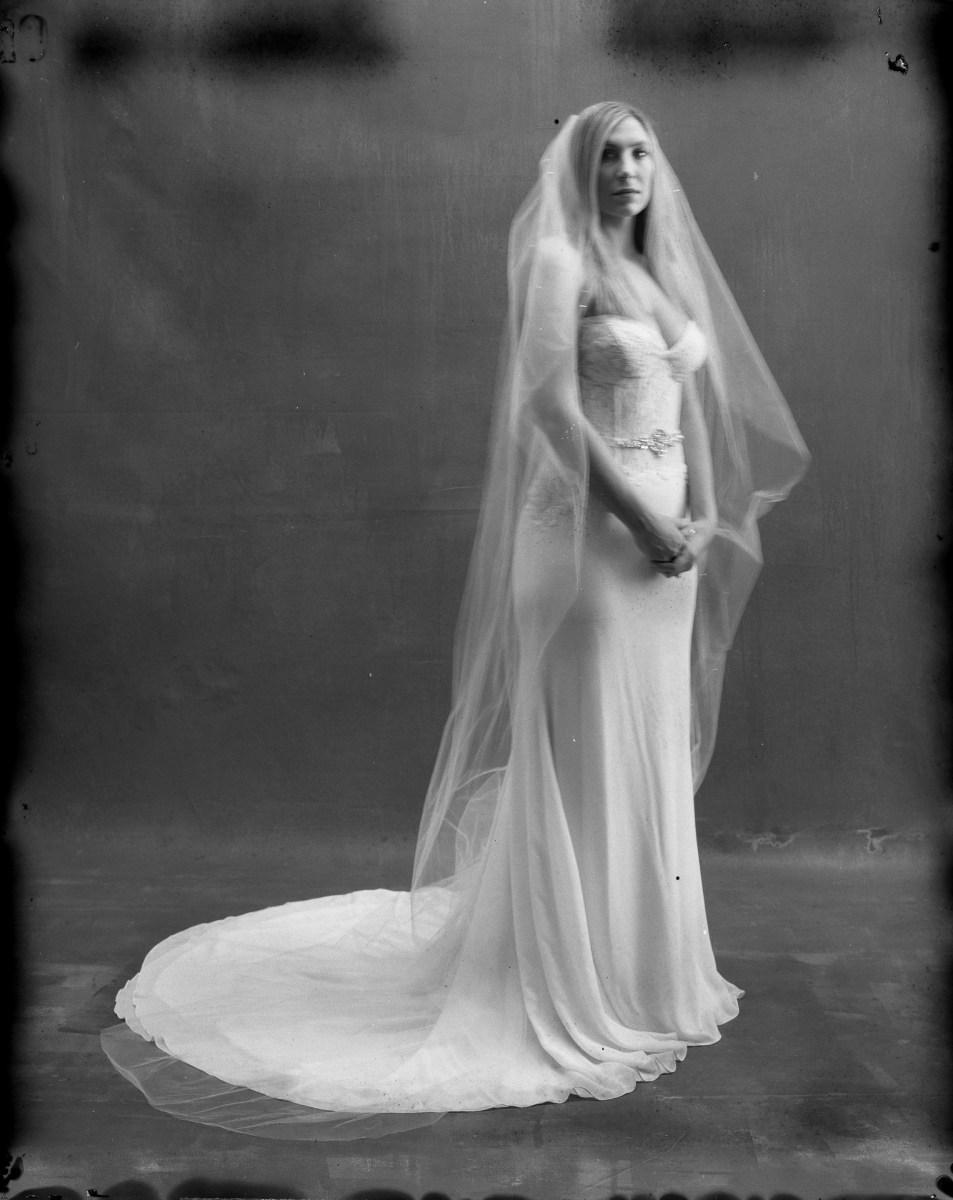 orange county film photographer bride in studio