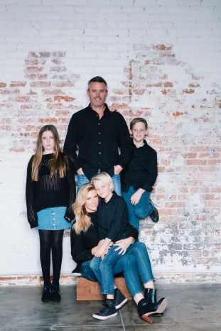 family photography ideas in the studio nicole caldwell brick backdrop 10