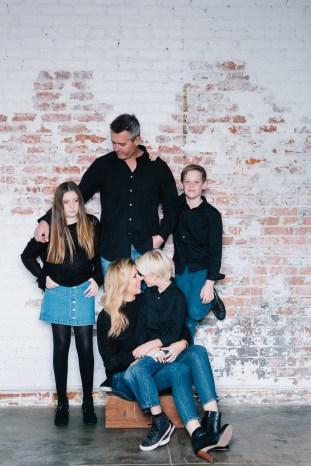 family photography ideas in the studio nicole caldwell brick backdrop 11