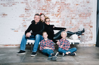 family photography ideas in the studio nicole caldwell brick backdrop 18