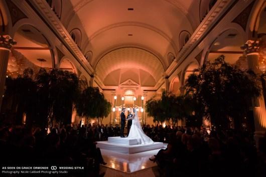 vibiana wedding ceremony in the round