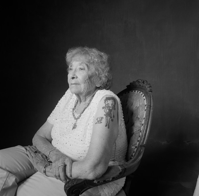tattooed senior citizen hasselblad film