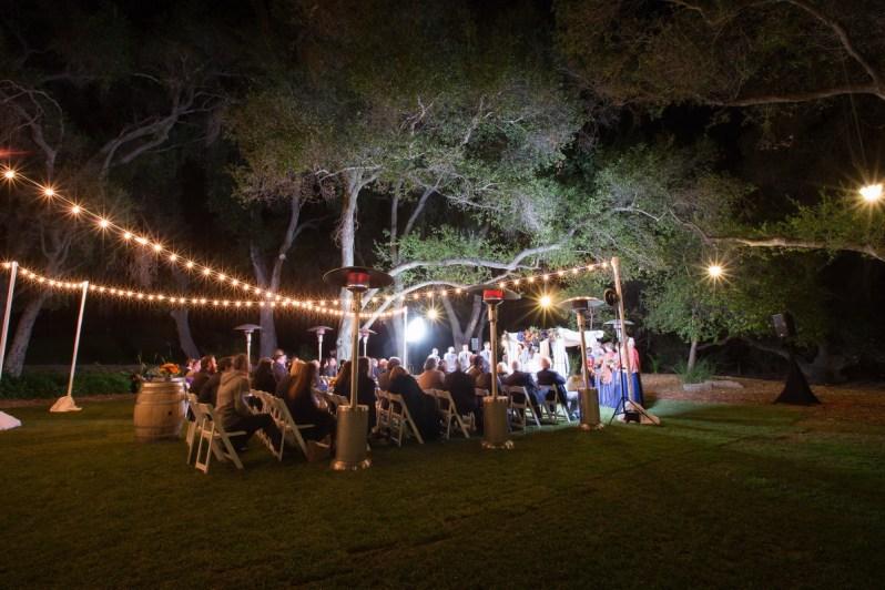 temecula creek inn weddings nightime ceremony jewish 48