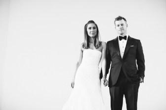 bride and groom balcony vibiana