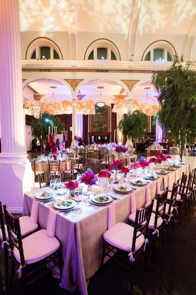 wedding vibiana reception tables
