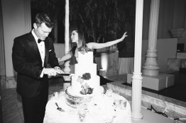 vibiana wedding cake cutting
