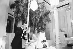 cake cutting vibiana wedding los angeles