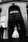 clift wedding san francisco photographer nicole caldwell couple waking out of hotel