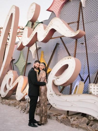 las vegas engagement shoot neon museum boneyard by nicole caldwell 12