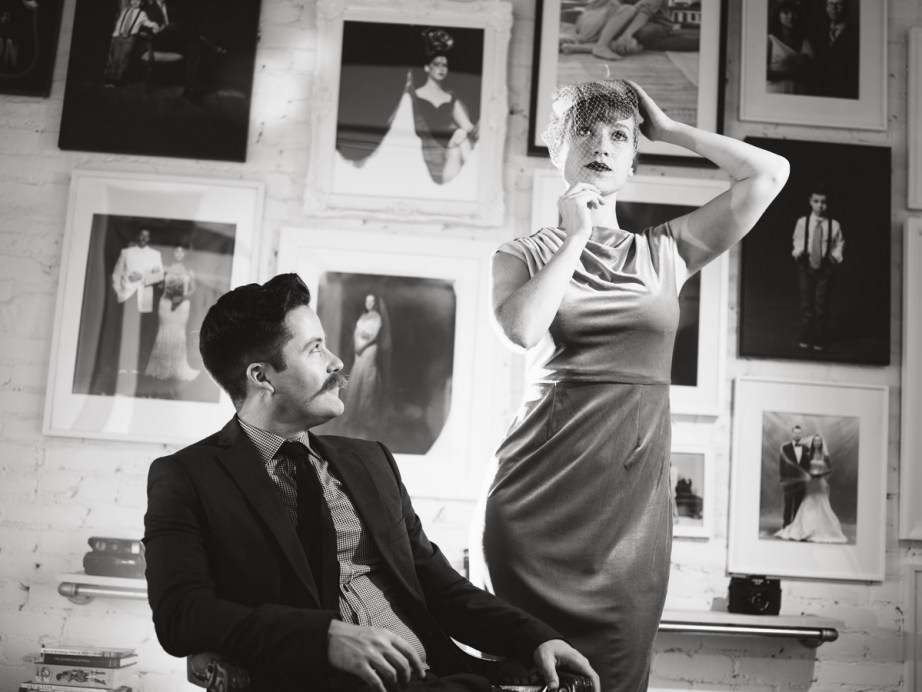 film noir engagement session photo by nicole caldwell studio 03