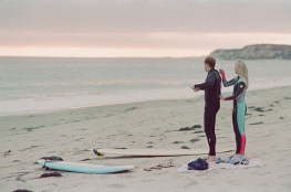 orange county wedding film photographer surf couple