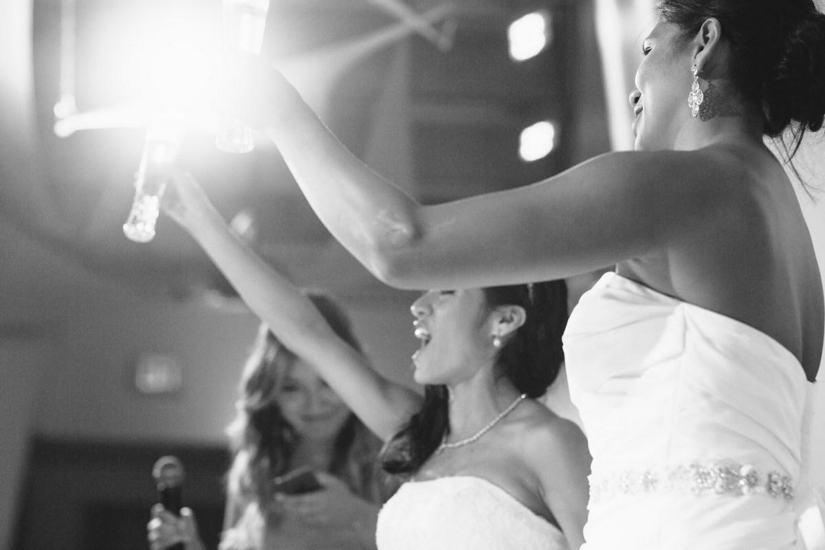 wedding reception toast in laguna beach