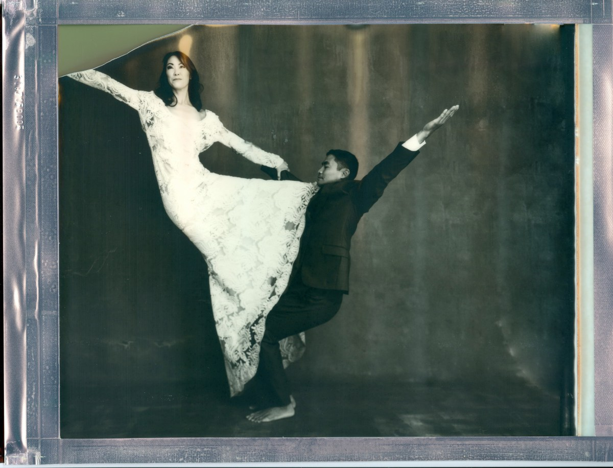 yoga couple wedding 8 x 10 polaroid impossible project