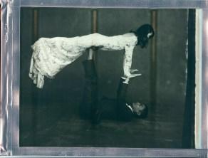 wedding yoga couple pose 8 x 10 polaroid impossible project