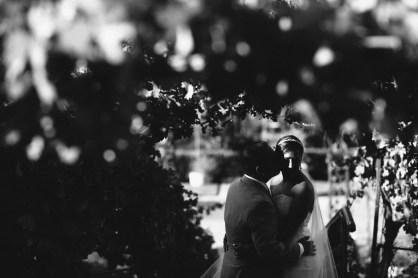 artistic temecula wedding photographer churon winery bride and groom in vineyard
