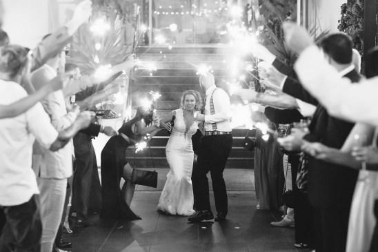 7 degrees laguna beach wedding sparkler exit