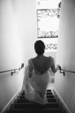 bride walking downstairs carondelet house