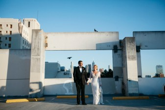carondelet house parking structure wedding