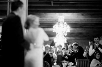 shot of crowd first dance carondelet wedding