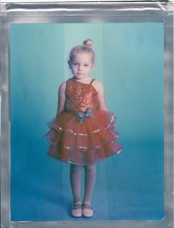 8x10 polaroid young ballerina color nicole caldwell