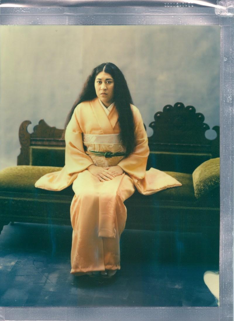 color 8 x 10 poalroid imposible project film nicole caldwell kimono 03