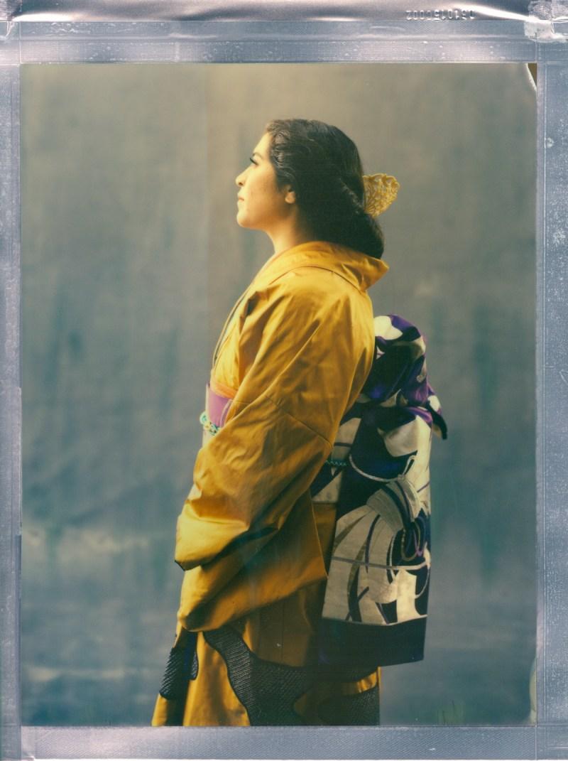 color 8 x 10 poalroid imposible project film nicole caldwell kimono 04